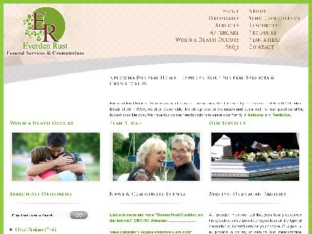 Everden Rust Funeral Services (250-860-6440) - Website thumbnail - http://www.everdenrust.com