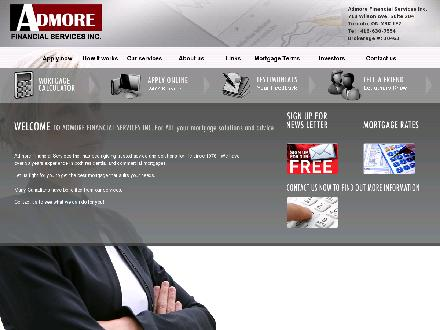 Admore Financial Services (416-630-7554) - Onglet de site Web - http://www.admoremortgage.com