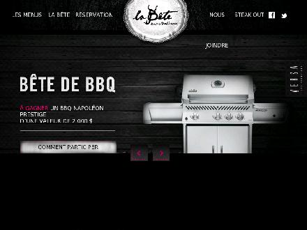 La Bête Bar Steakhouse (418-266-1717) - Website thumbnail - http://www.labete.ca