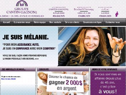 Assurance Groupe Cantin Gagnon Inc (418-542-7575) - Onglet de site Web - http://www.groupecantingagnon.ca