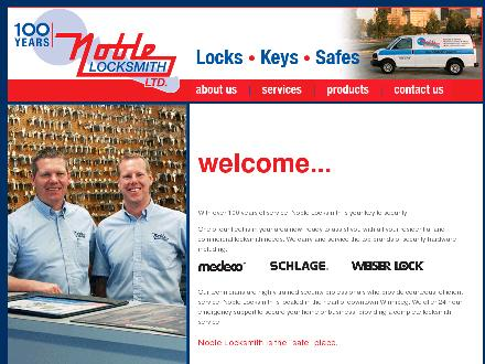 Noble Locksmith Ltd (204-942-3703) - Website thumbnail - http://www.noblelocksmith.ca