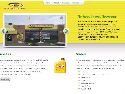 Pennzoil 10 Minute Oil Change Centre (905-988-9370) - Website thumbnail - http://pennzoilstcatharines.com