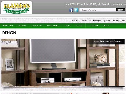 Klassen's of Winkler-The Furniture People (204-325-8222) - Onglet de site Web - http://www.klassensfurniture.com