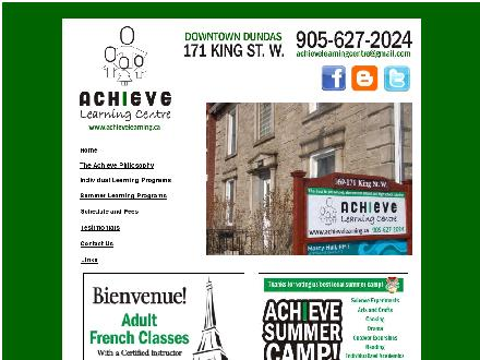 Achieve Learning Centre (905-627-2024) - Website thumbnail - http://www.achievelearning.ca