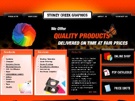 Stoney Creek Graphics (905-664-3131) - Onglet de site Web - http://stoneycreekgraphics.com