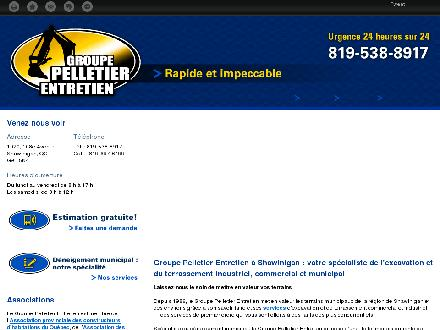 Groupe Pelletier Entretien (819-805-0165) - Onglet de site Web - http://www.groupepelletierentretien.com