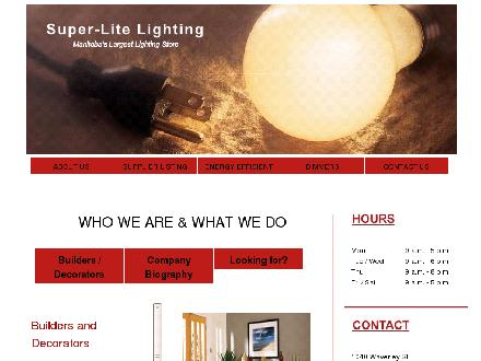 Super-Lite Lighting Limited (204-989-7277) - Website thumbnail - http://www.superlite.com