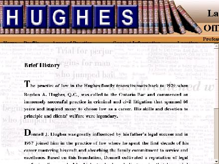 Hughes Law Office (613-270-1171) - Onglet de site Web - http://www.hugheslaw.ca