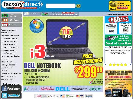 Factorydirect.ca - Onglet de site Web - http://www.factorydirect.ca