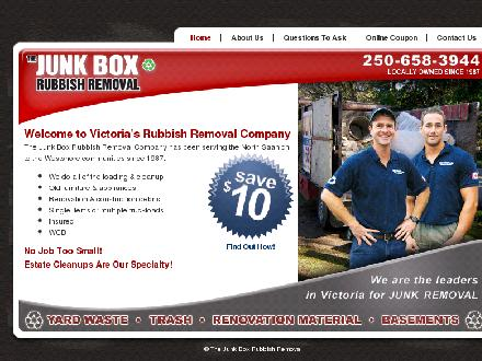 Junk Box The (250-658-3944) - Onglet de site Web - http://www.thejunkbox.ca