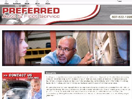 Preferred Auto & Fleet Services (807-622-1998) - Website thumbnail - http://preferredauto.ca