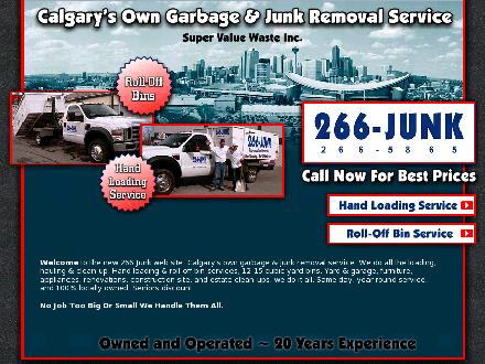 Super Value Waste Inc (403-266-5865) - Website thumbnail - http://www.266junk.com