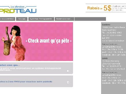 Silencieux Proteau Inc (Les) (418-842-4963) - Website thumbnail - http://www.silencieuxproteau.ca
