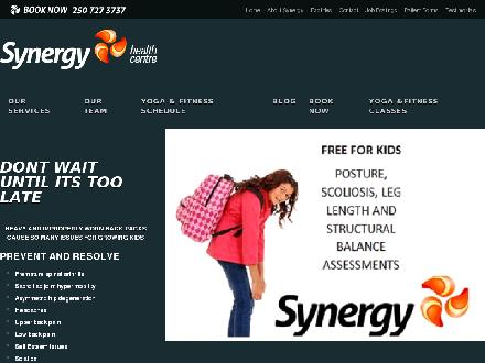 Synergy Health and Wellness Centre (250-419-0744) - Website thumbnail - http://www.synergyhealthmanagement.com