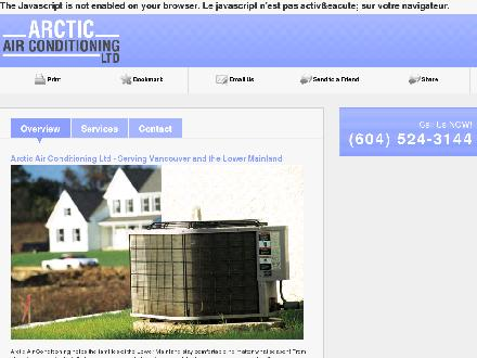 Arctic Air Conditioning Ltd (604-524-3144) - Website thumbnail - http://arcticair91.com