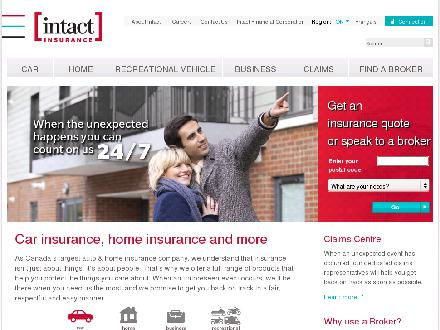 Intact Insurance Company (1-800-565-4040) - Onglet de site Web - http://www.intactinsurance.com