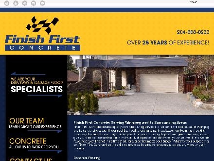 Finish First Concrete (204-668-0233) - Onglet de site Web - http://finishfirstconcrete.ca/