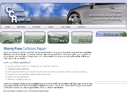 Cochrane Collision Repair Ltd (403-851-9738) - Website thumbnail - http://www.cochranecollision.com