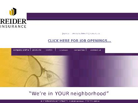 Reider Insurance (204-334-4319) - Onglet de site Web - http://www.reider.ca