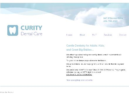 Curity Dental Care (416-755-0151) - Website thumbnail - http://www.curitydental.com/