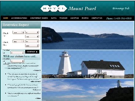 Hotel Mount Pearl (709-364-7725) - Onglet de site Web - http://www.hotelmountpearl.ca