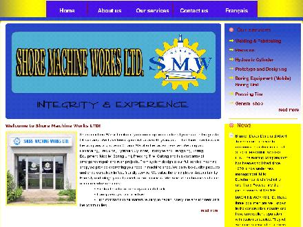 Shore Machine Works Ltd (613-736-1050) - Website thumbnail - http://www.shoremachineworks.com/