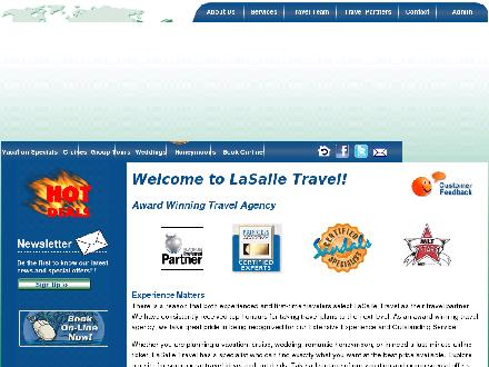 Lasalle Travel Services Inc (519-972-5588) - Onglet de site Web - http://www.lasalletravel.net