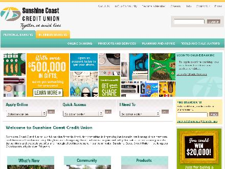 Sunshine Coast Credit Union (604-886-8121) - Onglet de site Web - http://www.sunshineccu.com