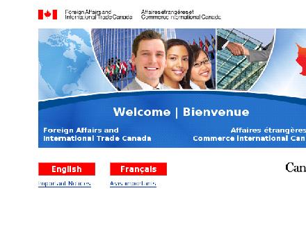 Affaires étrangères et Commerce International Canada (613-944-9136) - Onglet de site Web - http://www.international.gc.ca