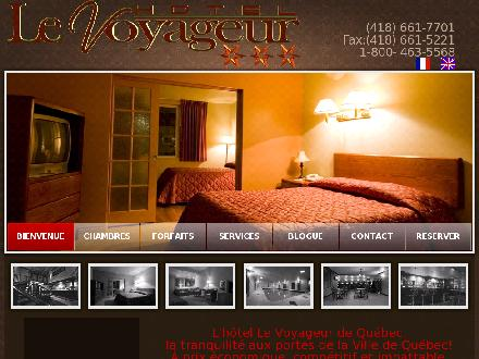 H&ocirc;tel Le Voyageur (418-661-7701) - Onglet de site Web - http://www.hotel-voyageur-quebec.com