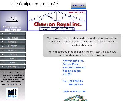 Chevron Royal Inc (819-823-2225) - Onglet de site Web - http://www.chevronroyal.com
