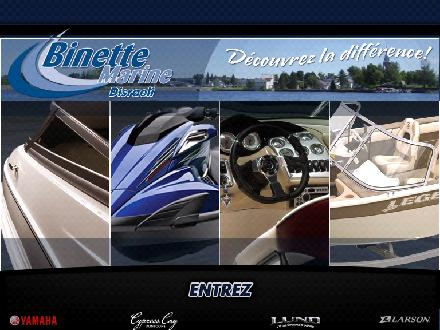 Binette Marine (418-449-1777) - Onglet de site Web - http://www.binettemarine.com