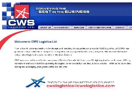 CWS Logistics Ltd (204-474-2278) - Website thumbnail - http://www.cwslogistics.com
