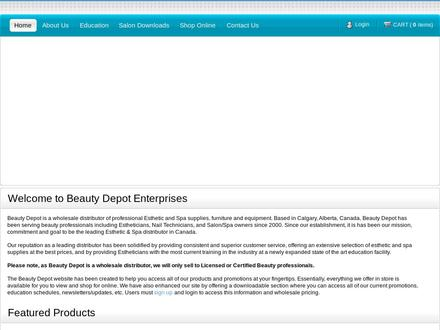 Beauty Depot (403-263-2204) - Website thumbnail - http://www.estheticinstitute.ca
