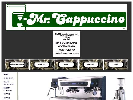Mr Cappuccino (403-230-8636) - Website thumbnail - http://www.mrcappuccino.com
