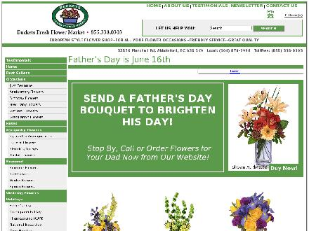 Buckets Fresh Flower Market (604-870-2994) - Website thumbnail - http://www.bucketsflowers.com