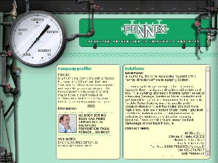 Pennex Backflow Prevention (613-825-8997) - Onglet de site Web - http://www.pennex.ca