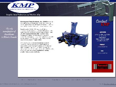 Kensington Metal Products (902-836-8200) - Onglet de site Web - http://www.kensingtonmetalproducts.com