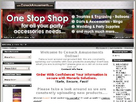 Canuck Amusements & Merchandising Ltd (403-213-9123) - Onglet de site Web - http://www.canuckamusements.com