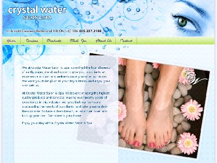 Crystal Water Salon & Spa (905-237-2188) - Website thumbnail - http://www.crystalwatersalonandspa.com