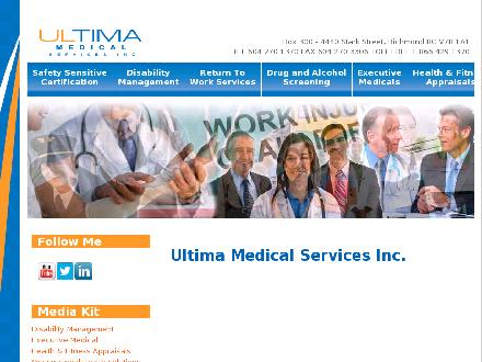 Ultima Medical Services (604-270-1370) - Onglet de site Web - http://www.ultimamedical.com