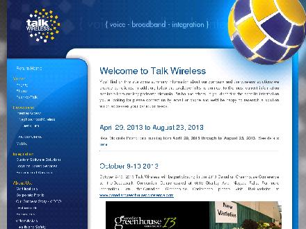 Talk Wireless Inc (289-273-2347) - Onglet de site Web - http://www.talkwireless.com