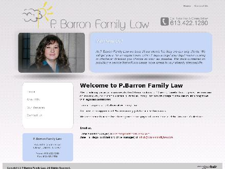 P Barron Family Law (613-422-1260) - Onglet de site Web - http://www.barronfamilylaw.com