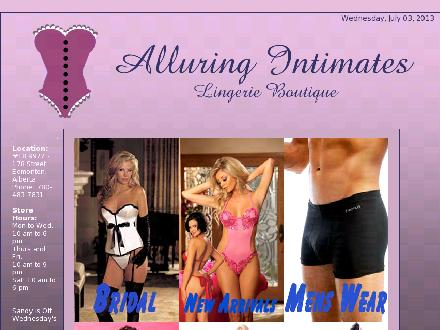 Alluring Intimates Ltd (780-483-7831) - Website thumbnail - http://www.alluringintimates.ca