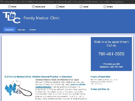 TLC Family Medical (780-481-5555) - Onglet de site Web - http://tlcfamilymedicalclinic.ca/