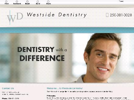 Westside Dentistry (250-381-0028) - Website thumbnail - http://westsidedentistry.com/