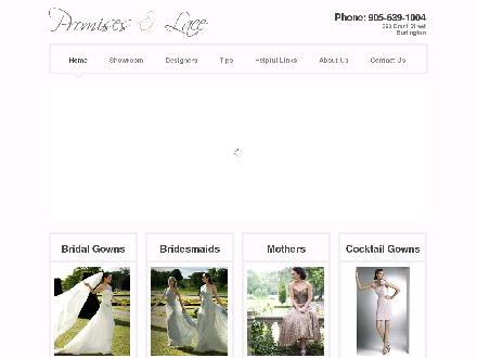 Promises And Lace (905-639-1004) - Onglet de site Web - http://www.promisesandlace.ca
