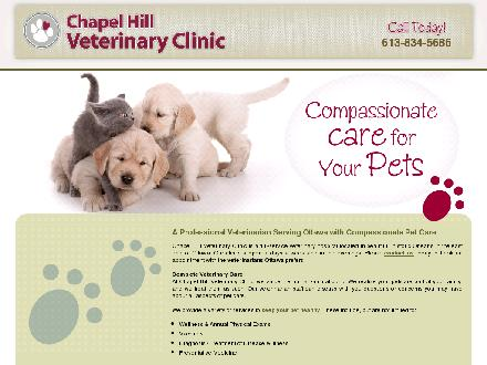 Chapel Hill Veterinary Clinic (613-604-0208) - Onglet de site Web - http://chapelhillveterinaryclinic.com/