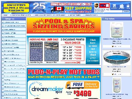 Discounter's Pool & Spa Warehouse (705-722-7665) - Website thumbnail - http://www.discounterspoolandspa.com