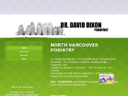 Dixon David Dr (604-990-5209) - Onglet de site Web - http://www.northvancouverpodiatrist.ca